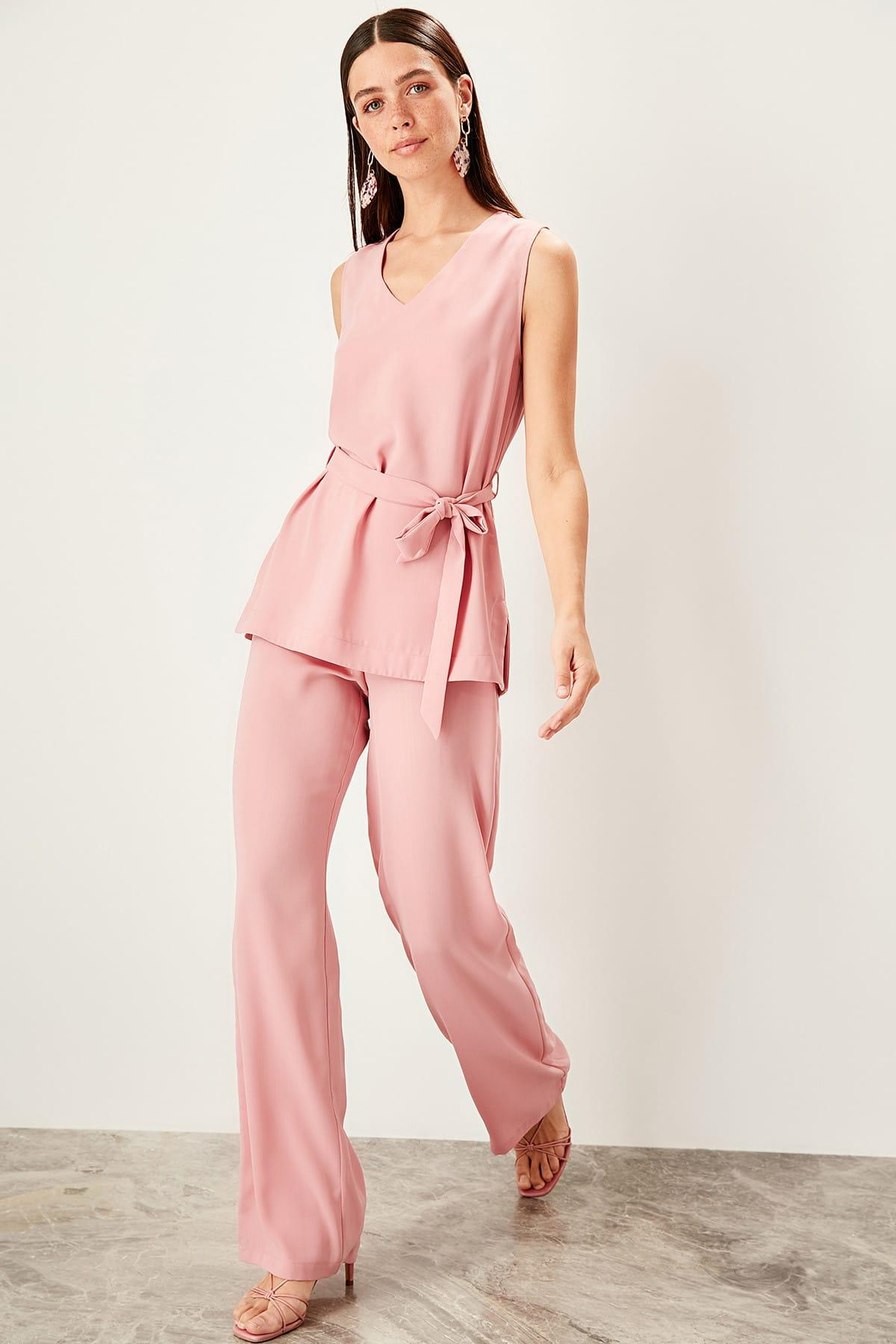 Trendyol Color Rose Flare Pants TWOSS19WX0113