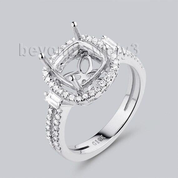 Beyond font b Jewelry b font 8X8mm Cushion Cut font b Engagement b font Ring Settings