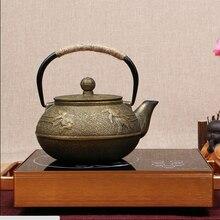 Классический Стиль рыбы чугун Чай горшок 800 мл кунг-фу Чай горшок железа горшок для Пособия по кулинарии Чай гладить чайник китайский Чай горшок для здоровья подарки