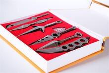 7Pcs/Set Naruto Alloy Weapon Toy