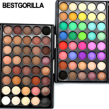 Women 40 Colors Shimmer Or Matte Eyeshadow Makeup Palette Long Lasting Eye Shadow Natural Nude Naked Eyes Cosmetics With Brush
