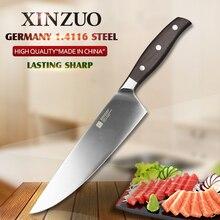 Xinzuo 8 zoll kochmesser deutsch din1.4116 stahl küchenmesser palisander griff sharp hackmesser messer küche tackle kostenloser versand
