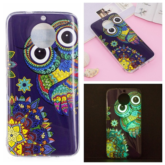 arrives 7d362 41ec1 US $1.92 20% OFF Glowing at Night sFor Motorola Moto G5S G 5S Plus Case  Cover Silicone Case For Lenovo Moto G5S Plus Motorola Coque Etui Fundas-in  ...