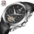 Automatic Self-Wind Calendar Men's Watch BINKADA Military Sport Watch Relogio Masculino Leather Mechanical Watch High Quality