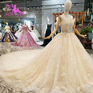 Image 3 - AIJINGYU engagement The Bride Dresses Gothic Wedding Korean Store Real Photo Belarus For Sale Gown Outlet White New Gown