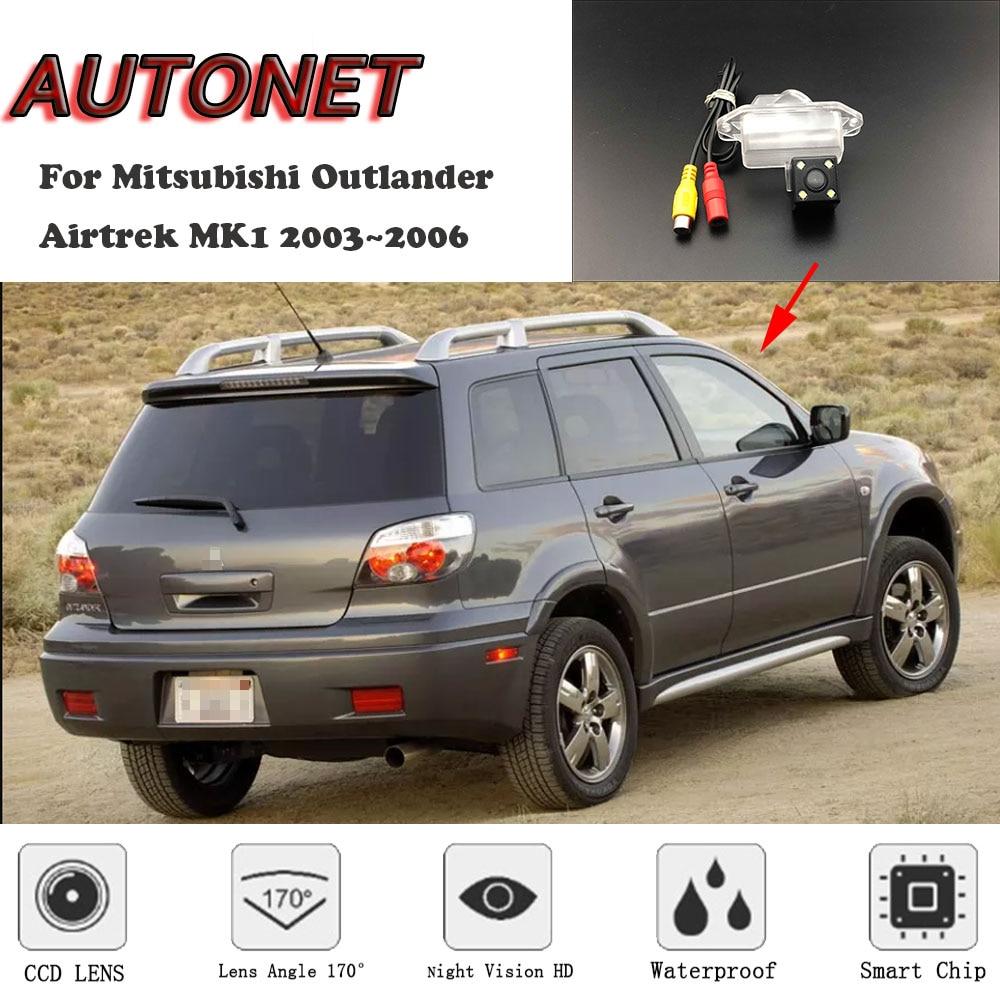 AUTONET HD Night Vision Backup Rear View camera For Mitsubishi Outlander Airtrek MK1 2003~2006 CCD/License Plate camera