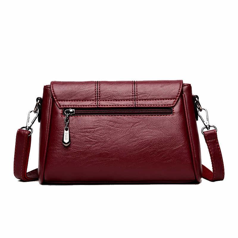 f92f4a7764f7 2019 New Soft Crossbody Bags For Women Pu Leather Handbags Designer Women  Shoulder Bags High Quality Solid Women Messenger Bags