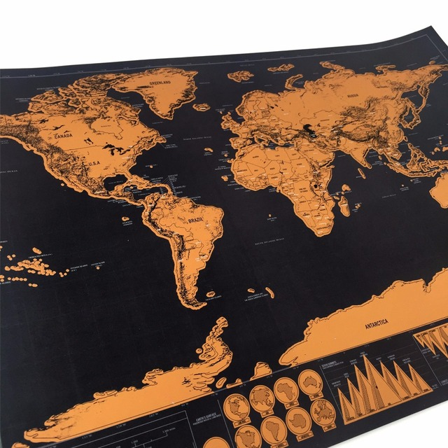 82x59cm large wall decoration scratch off map the world map for home 82x59cm large wall decoration scratch off map the world map for home decor wall art craft gumiabroncs Images