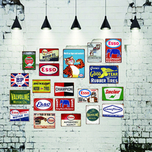 Motor oil  Vintage Tin Sign shabby chic Metal Plate Retro Garage Decorations For Home Wall Bar Art Poster 30X20CM DU-2731