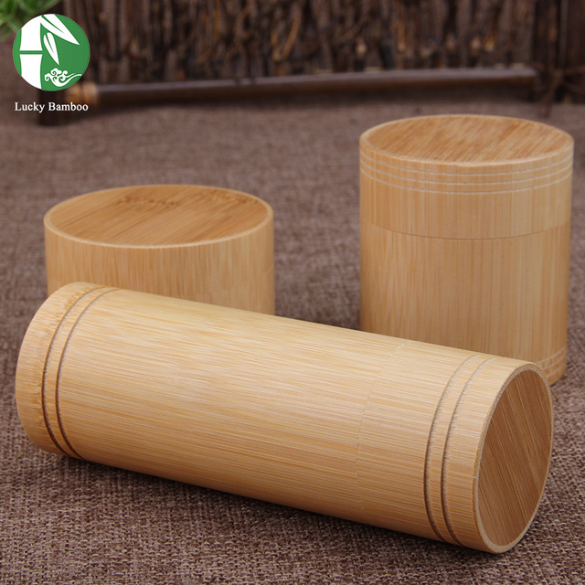 Bamboo Storage Boxes Wooden Containers Handmade Organizer Tea Jars Coffee Cans Sugar Receive For Bulk Products With Lid Vintage