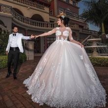kejiadian Wedding dress ball gown Long Sleeves Bride Dress