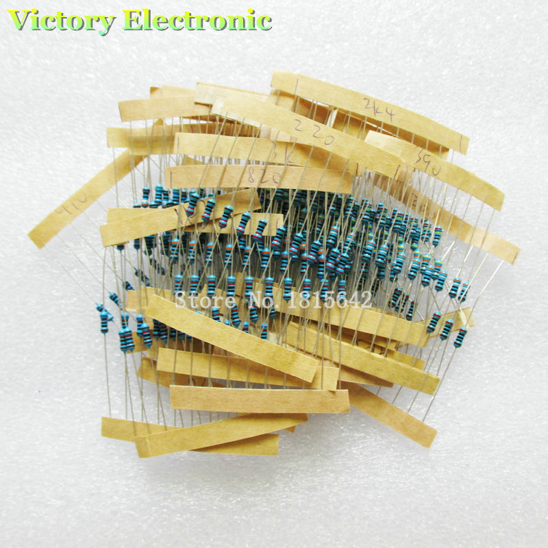 New Metal Film Resistor Kit 1 4W 200 4 3K Color ring resistance 250PCS Set Wholesale