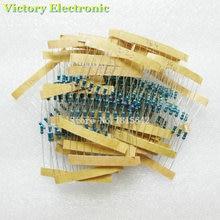 New Metal Film Resistor Kit 1/4W 200-4.3K Color ring resistance 250PCS/Set Wholesale Electronic 25Kinds