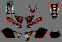 new style  (0415) TEAM GRAPHICS & BACKGROUNDS DECALS FOR KTM EXC 125 200 250 300 400 450 525 2003