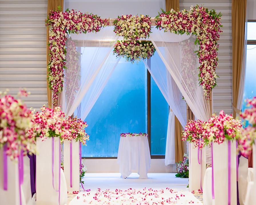 Kate Indoor Wedding Theme Photography Backdrops Beautiful Flowers