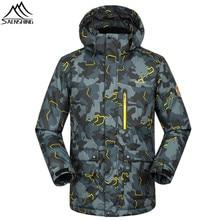 Saenshing-30 grados caliente chaqueta de esquí hombres invierno impermeable  chaqueta de nieve transpirable Camo 6490b0825da