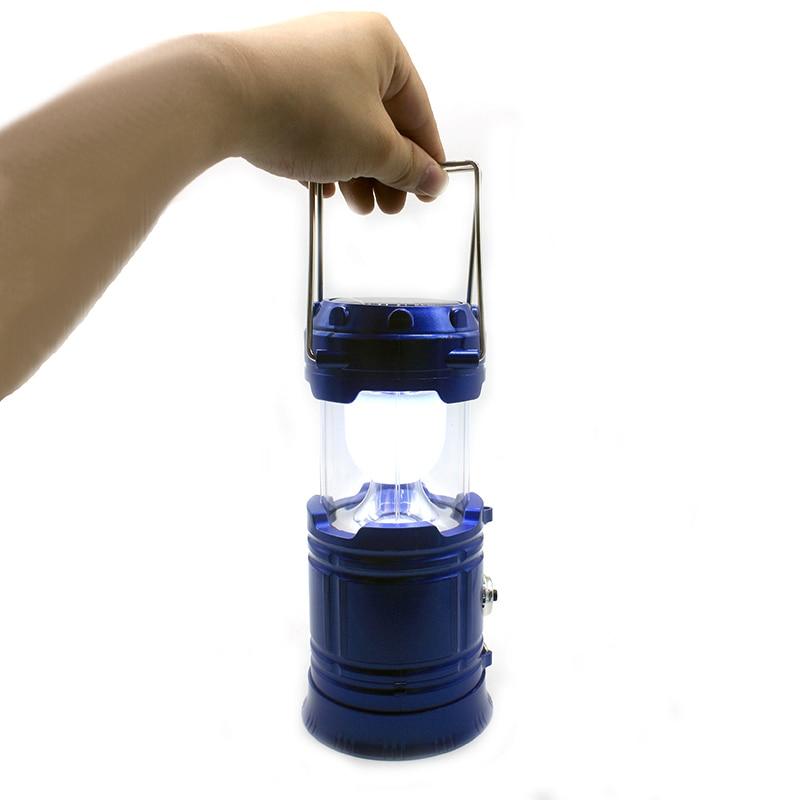 7 Led Camping Lantern Lampu Portabel Solar USB Charger Bank Daya Isi - Pencahayaan portabel