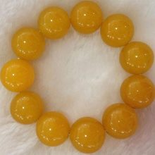 KYSZDL Natural Yellow Yu stone bracelet for men and women gifts jewelry(China)
