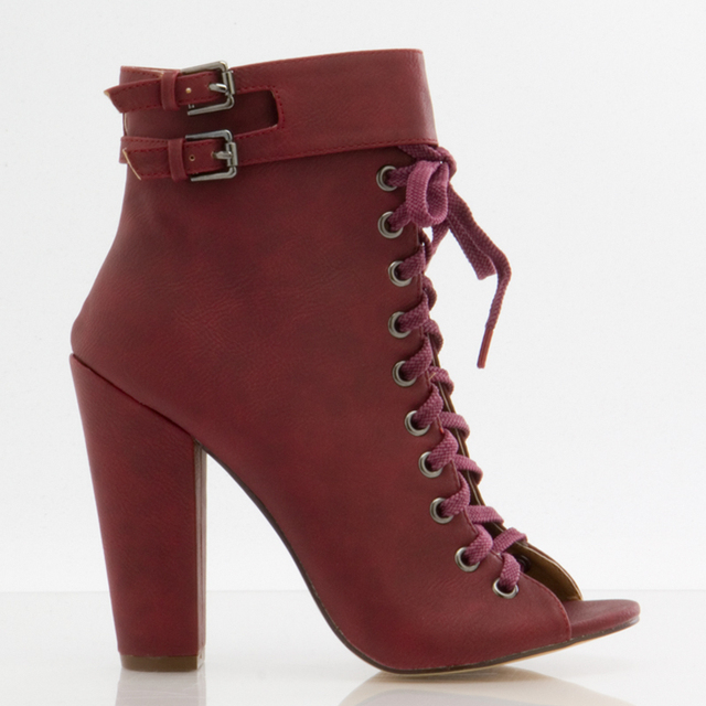 Aliexpress.com : Buy Burgundy Soft Leather Short Boots For Women ...
