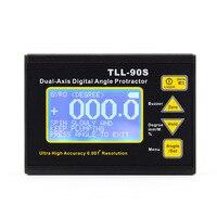 Высокоточный лазерный уровень ЖК дисплей угол метр 0,005 Двухосевой цифровой лазерный уровень транспортир угломер