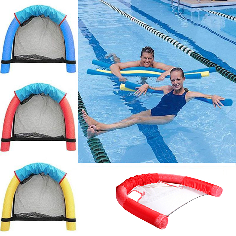 Float Chair Pool Swimming Equipment Floating Pool Noodle Sling Mesh Chairs - Water Relaxation