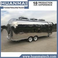 Mobile Food Van Stainless Steel Catering Food Trailers Fast Food Trucks 6800x2100x2600mm