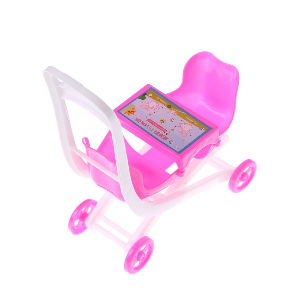 1PCS Baby Stroller Double Pram accessories for Kelly doll play house toy Dolls Accessories 11