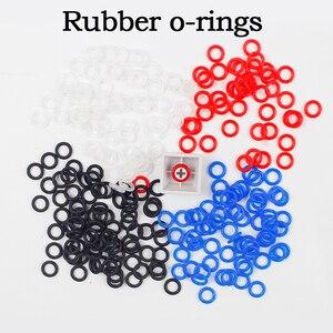 Image 1 - 140 יח\חבילה לבן אדום שחור כחול גומי O טבעת מתג מנחת keycap מכאני מקלדת orings דובדבן mx o טבעות