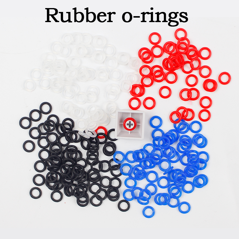 140pcs/lot White Red Black Blue Rubber O-Ring Switch Dampers Keycap Mechanical Keyboard Orings Cherry Mx O Rings