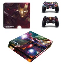The Avengers Iron Man Hulk PS4 Slim Skin Sticker