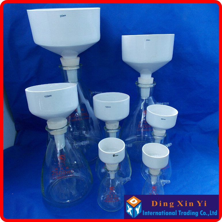 цены  15000ml suction flask+300mm buchner funnel,Filtration Buchner Funnel Kit,With Heavy Wall Glass Flask,Laboratory Chemistry