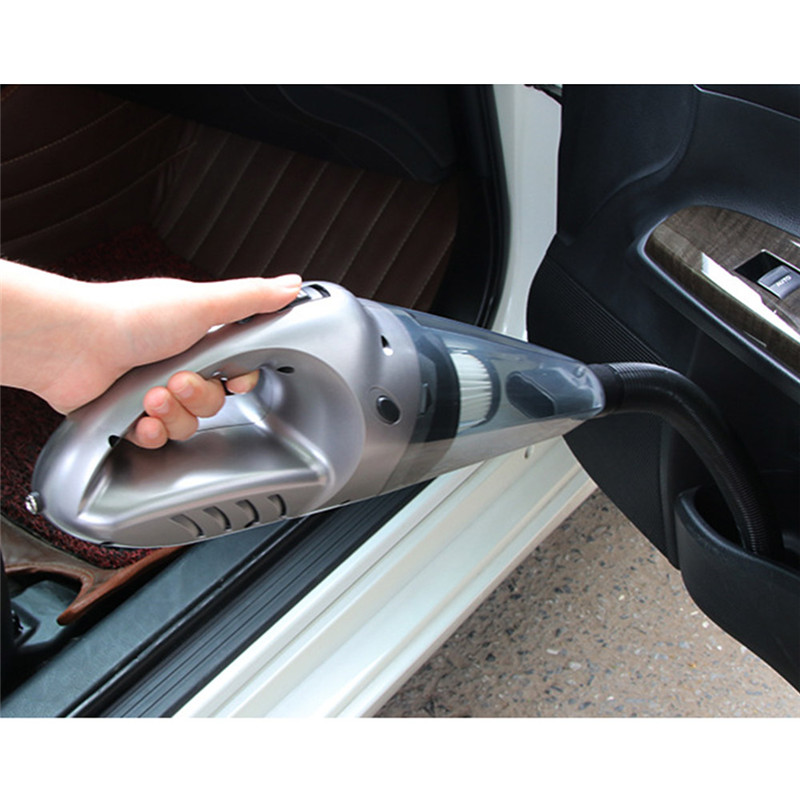 DC 12 Volt Portable Handheld Vacuum Cleaner for Car of 5.0 Kpa Suction with LED Light for Wet and Dry Use