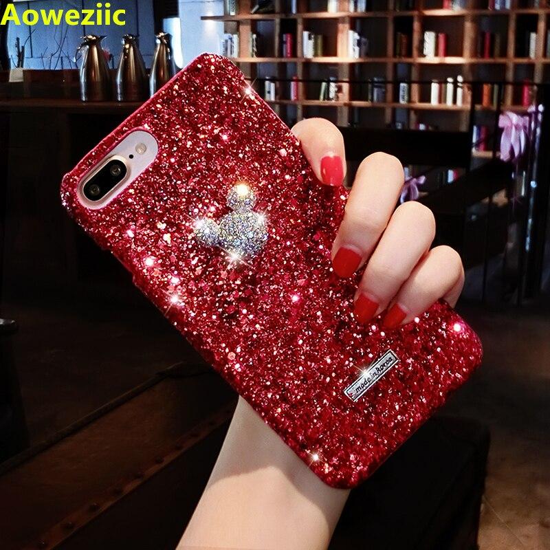 Aoweziic Persönlichkeit innovation handy shell frauen Korean Air 6 s protector Für iphoneXR Mickey 7 8 plus trend XSMAX shiny