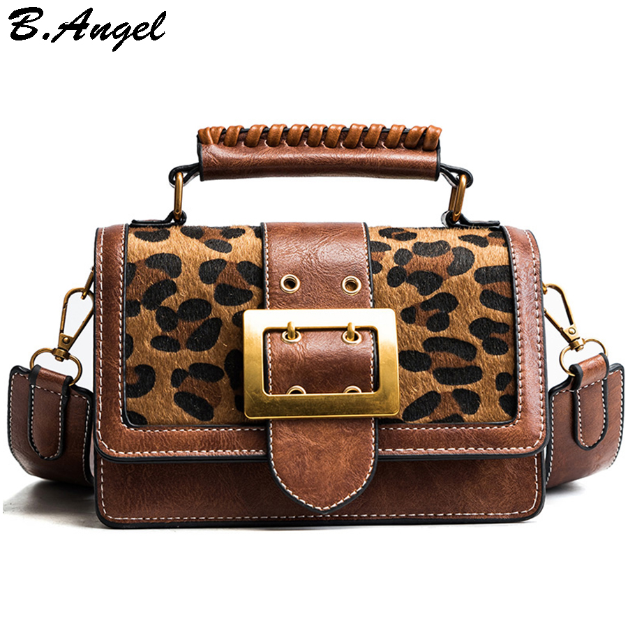 eba31acdfb1 US $57.0 |Vintage Leopard Small Women Messenger Bags Purse Women Luxury  Handbags Women Bags Designer Leather Handbags and Purse Crossbody-in ...