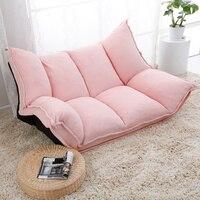Ткань Регулируемый складной шезлонг диван председатель пол диване Гостиная мебель диван кушетка спальное место отдыха игровой диван
