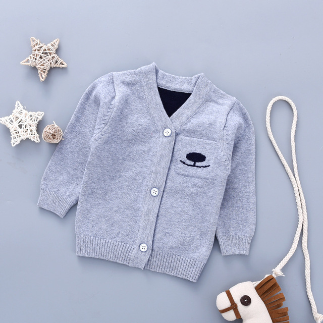 a20cadec8 0 12M Baby Sweaters for Boys Long Sleeves Cardigans Fall Cotton Knit ...