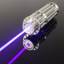 new blue laser pointer 100000mw/100w 450nm focusable burning match/dry wood/candle/black/cigarettes+glasses+charger for free+box
