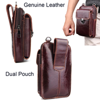 Genuine Leather Pouch Shoulder Belt Phone Case Bags For LG G8 V50 ThinQ 5G,Oppo Reno 5G,Reno 10x zoom,Realme 2 1 3 Pro U1 C1 C2