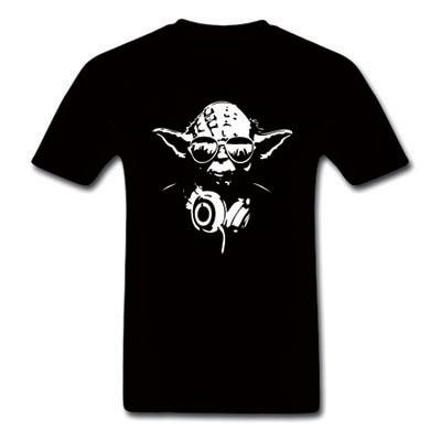 Darth Vader Yoda DJ Men's T Shirt Fashion Summer Style Star Wars The Force Awakens VII Casual camisetas Top Short Sleeve tshirt