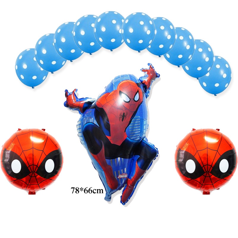 (13pcs/lot)helium balloon large size Spiderman foil balloons for spiderman party decoration kid toys