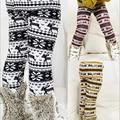 red yellow black autumn/winter baby children's clothing girls add thick velvet Christmas deer leggings trousers free shipping