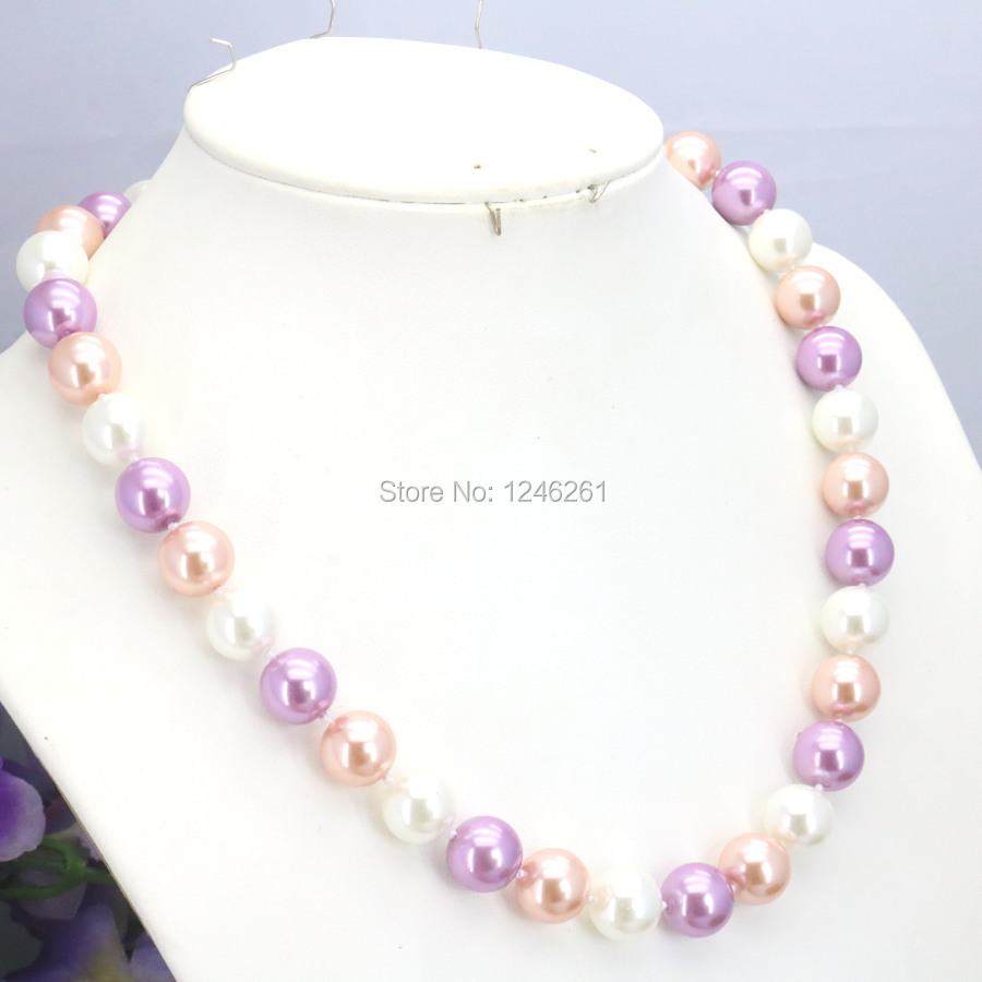 ᗑHot Sale 10mm Glass Round Beads Women Girls Necklace Christmas ...