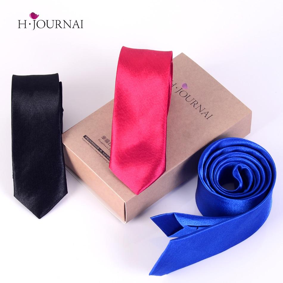 5cm Skinny Ties Men s Polyester Plain Skinny Necktie Solid Ties Slim Tie 50 Colors available