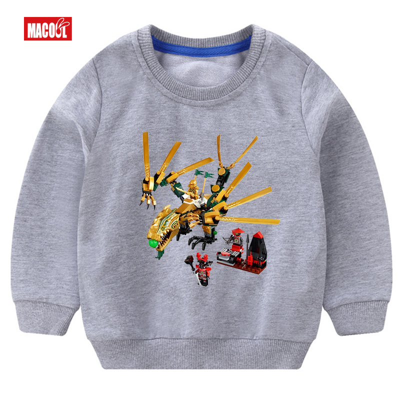 Boys Sweatshirt fashion Clothes Clothing Cartoon Cotton Casual Sweatshirt Long Sleeve Printed Tracksuit Outerwear 3T 8T in Hoodies Sweatshirts from Mother Kids