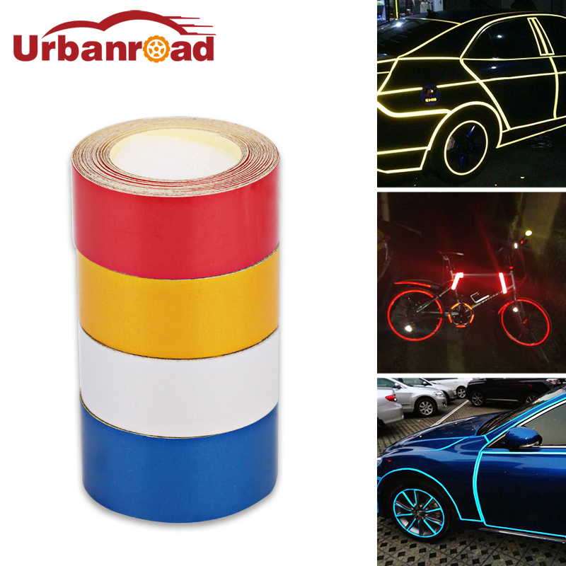 5m*2cm Car Reflective Film Tape Stickers Adhesive Red Motorcycle Reflective Tape Safety Warning Stickers Car Styling Automobile все цены