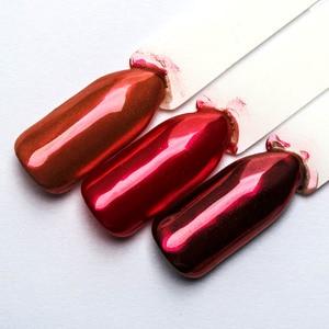 Image 5 - 1 kutu kırmızı ayna Glitter çivi tozu manikür Nail Art toz krom Pigment tırnak sanat dekorasyon aksesuarı SF3036