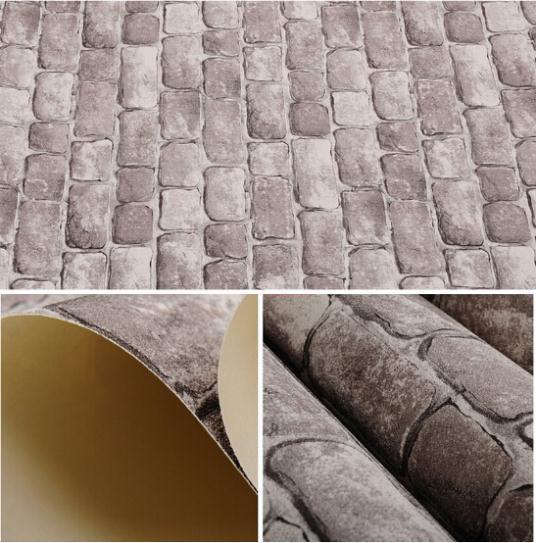 achetez en gros en relief brique papier peint en ligne des grossistes en relief brique papier. Black Bedroom Furniture Sets. Home Design Ideas