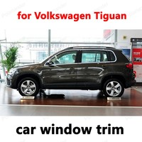 Car Exterior Accessories Styling Window Trim for Volkswagen Tiguan Stainless Steel Decoration Strips without column