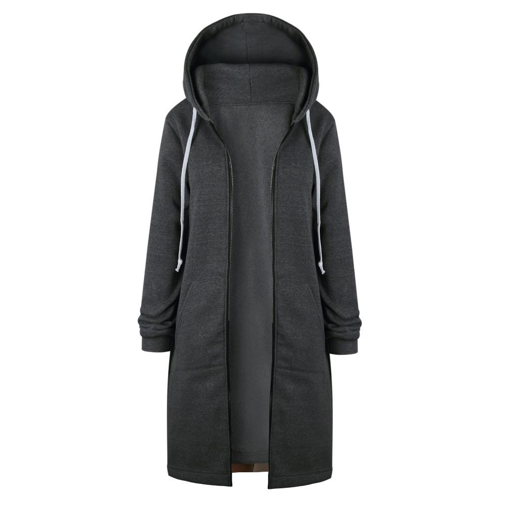 Women Warm Winter Fleece Hooded Parka Coat Overcoat Long Jacket Outwear Zipper outwear Female Hoodies S-5XL plus size sweatshirt 20
