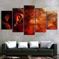5 Pieces unframed Buddha painting Canvas Picture wall Art HD Print Painting for living room home decor